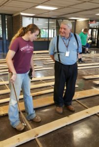 2017 lumber inspector class female student and instructor